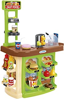 Simba Ecoiffier Chef Fast Food Center, Multi-Colour, 23 Accessories