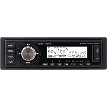 Clarion M508 Single-din in-Dash Marine-Grade Digital Media Receiver with Bluetooth Black