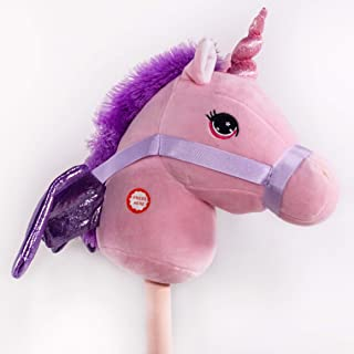 PonyLand Pink Unicorn Stick Horse with Sound Toy