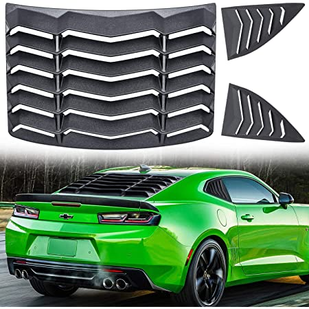 ZENITHIKE ABS Rear Window Louver Windshield Sun Shade Cover Compatible for 2016 2017 2018 2019 for Chevrolet Camaro