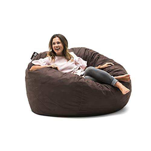 Comfy lounge furniture Contemporary Big Joe 0010656 Large Fuf Foam Filled Bean Bag Chair Cocoa Lenox Comfy Lounge Chairs Amazoncom