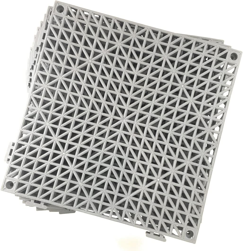 Limited time for free shipping Set of OFFer 9 Interlocking Gray Rubber Each Tiles- inches 11.5 Floor