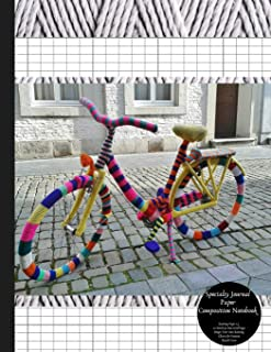 Specialty Journal Paper Composition Notebook Knitting Paper 2:3 20 Stitch / 30 Row Grid Pages Design Your Own Knitting Charts for Patterns Bicycle Cover: Blank Graphs Books for Knit Designs