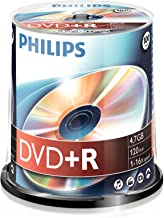 Philips DVD+R DR4S6B00F/00 - DVD+RW vírgenes (4,7 GB, DVD-R, 120 min, 16x)