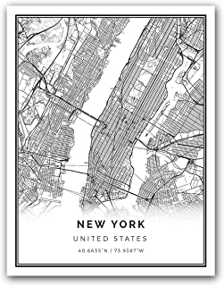 Best poster new york map Reviews