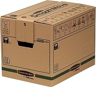 Caisses de Déménagement,Carton Double Epaisseur pour Usage Intensif SmoothMove avec Poignées-Montage sans Adhésif, Système...