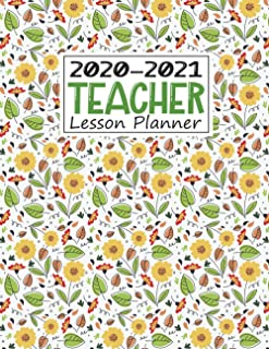 Teacher Lesson Planner 2020-2021: Lesson Plan Book for Teachers, Weekly and Monthly Agenda Calendar   Academic Year - May ...