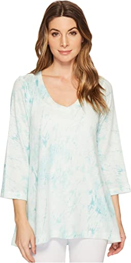 Nally & Millie - Light Green Marble Print Tunic