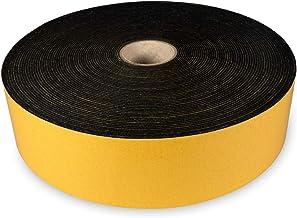 The Felt Store - Zelfklevend viltband van zwart vilt, 50 mm breed, 1,5 mm dik, 20 m lang