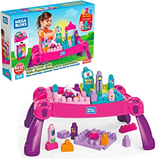 Mega Bloks Build 'n Learn Table [Amazon Exclusive], Pink