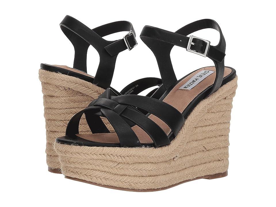 Steve Madden Knight Espadrille Wedge Sandal (Black) Women