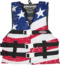 SPORTSSTUFF Youth Stars and Stripes Life Jacket, Red, White, Blue, Model Number: 10098-03-A-US