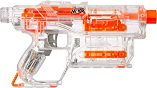 Nerf Modulus - Shadow ICS 6 Blaster + 6 Elite Darts, Internal Clip and Illuminator Barrel  - Kids Toys & Outdoor Games - Ages 8+