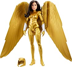Mattel Wonder Woman 1984 Golden Armor Doll (~12-inch) in Light-Up Armor, Collectible Superhero Doll for 6 Year Olds and Up