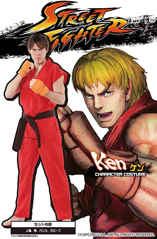 Street Fighter official costume Ken Costume Men's  180cm