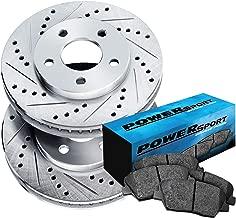 Fit 1990 Honda Accord Front PowerSport Drill Slot Brake Rotors+Ceramic Brake Pad