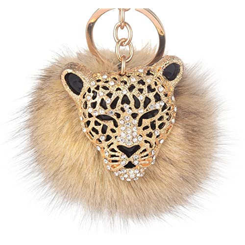1da322bbbd3f Giftale Leopard Handbag Charms Accessories Purse Keychain for Women