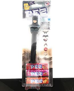 Justice League BATMAN PEZ Dispenser with 3 Pack Candy Refill on Blister Card