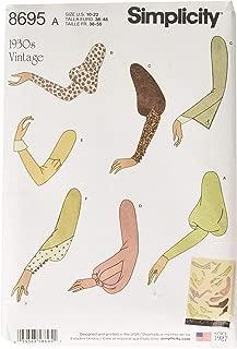 Simplicity Creative Patterns 8695 Misses' Vintage Set of Sleeves, Size 10-18