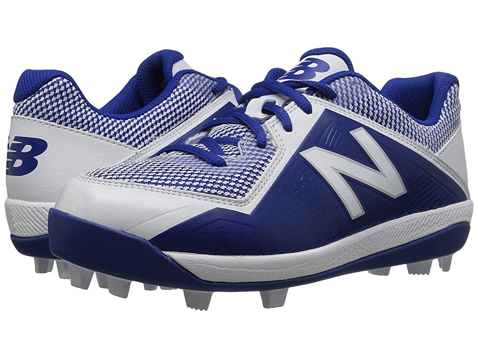 New Balance Kids J4040v4 Baseball (Little Kid/Big Kid) (Royal/White) Kids Shoes