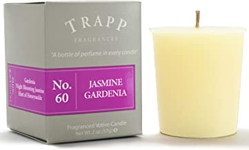 Trapp Signature Home Collection - No. 60 Jasmine Gardenia Votive Scented Candle 2 Ounce, Pack of 4