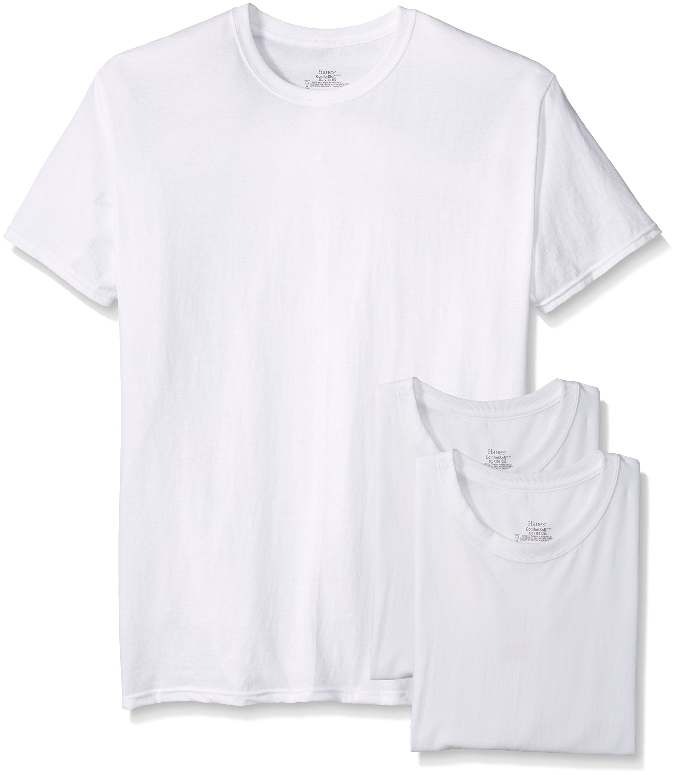 Hanes Men's 3-Pack Crew Neck T-Shirt