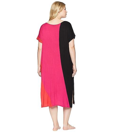 Donna Plus Calypso Size Color Block Caftan Karan PAPHqxB