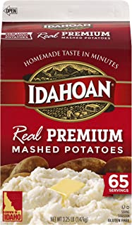 Idahoan Real Premium Mashed Potatoes, Made with Gluten-Free 100-Percent Real Idaho Potatoes, 3.25lb Carton (65 Servings)