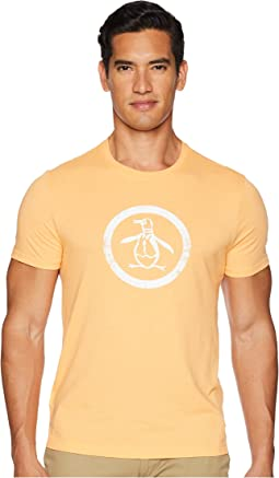 Original Penguin Heathered Distressed Circle Logo Tee