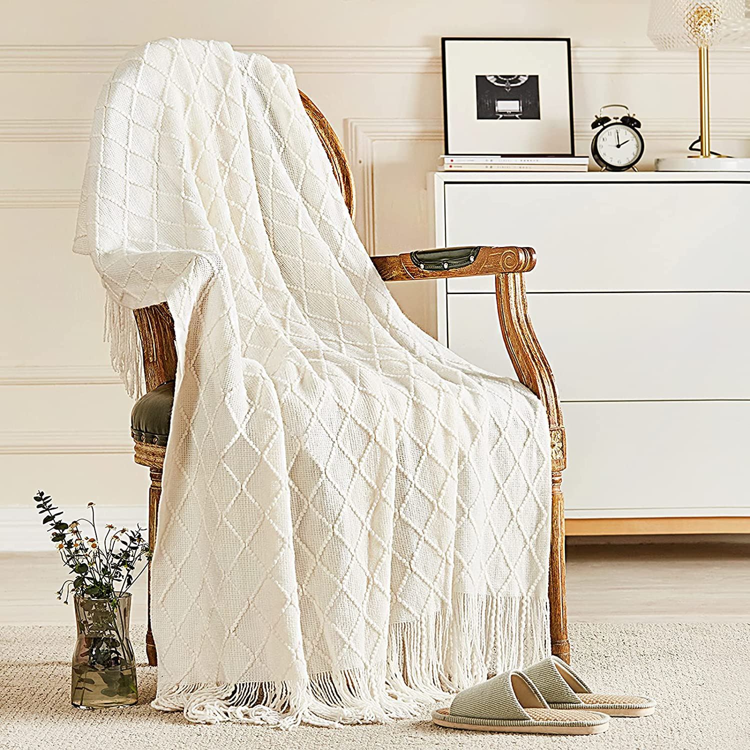 Inhand Knitted Throw Blankets shopping for New Orleans Mall Couch Cozy Bed and Soft Knit