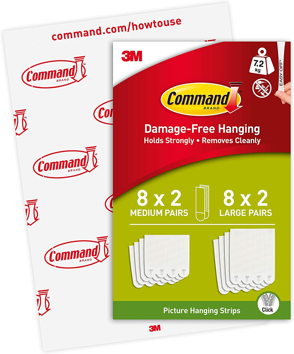 Command Medium Ranking TOP18 New color and Large Picture PH209-16EU White Strips Hanging
