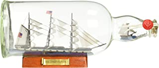 Hampton Nautical USS Constitution Model Ship in a Glass Bottle, 11