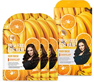 FARMSKIN Freshfood for Hair Care Hair Mask Cap Salon Quality Easy Hair Care at Home without a mess Damage Care Set (Pack o...