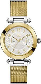 Gc Womens Quartz Watch, Analog Display And Stainless Steel Strap - Y48004L1MF