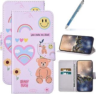 Cover Compatibel met iPhone 6 Plus/6S Plus Telefoonhoes Cartoon PU Lederen Portemonnee Case met Stand Functie Credit Card ...