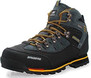 51ab2a48727 GNEDIAE Zapatillas de Senderismo Hombre Big Size Leather Lace-ups Trail  Camping Sneaker para Outdoor