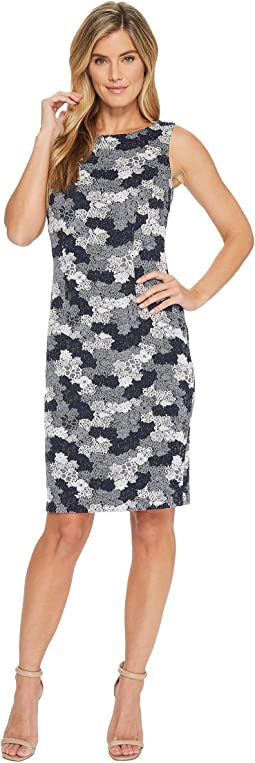 Ivanka Trump - Jacquard Knit Sleeveless Sheath Dress