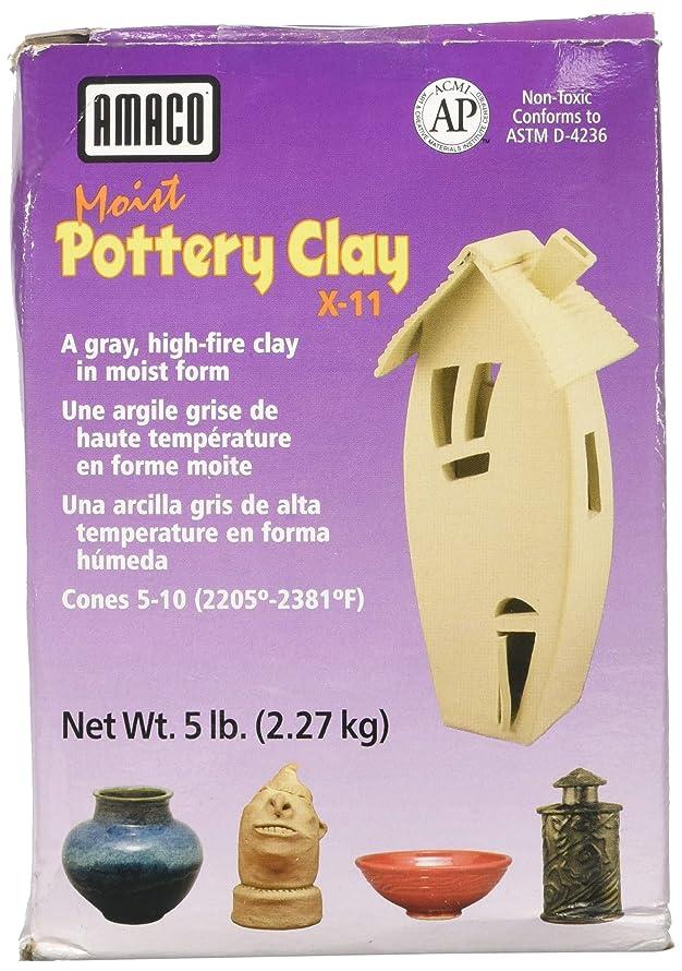 AMACO X-11 Moist Pottery Clay, 5-Pound, Grey