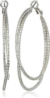 GUESS Women's Silver Hoop-Earrings, Silver, One Size