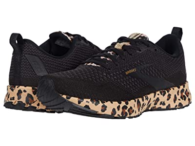 Brooks Revel 4 (Black/Latte/Metallic) Women