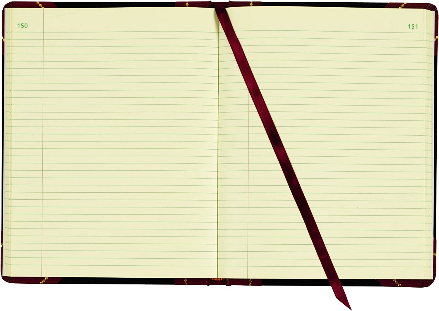 Adams Record Ledger, 8.25 x 10.75 Inches, 5 Squares per Inch, 300 Tinted Pages, Black and Maroon (ARB810R3M) : Record Books : Office Products
