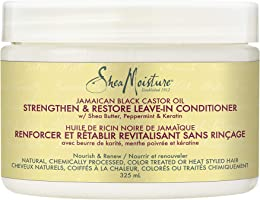 SheaMoisture Jamaican Black Castor Oil Strengthen & Restore For Over-Processed, Chemically Treated Or Heat Styled Hair,...