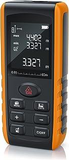 Brandson - Telémetro láser 60m - Telémetro láser - Telémetro, área, volumen - 0,05 a 60m - 2mm Precisión de medición - Nivel digital - Unidad de medición en metros, pulgadas, pies - IP52