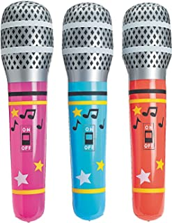 Fun Express - Giant Inflate Microphone - Toys - Inflates - Inflatable Characters - 6 Pieces