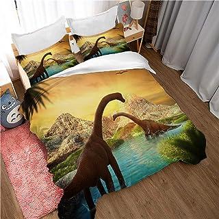 WYwwyy Juego De Cama De 3 Piezas (240 * 260Cm) Dinosaurio Animal - Colcha Cama - Impresión 3D Juegos De Edredones (1 Funda Nórdica + 2 Fundas De Almohada) Microfibra Decoración