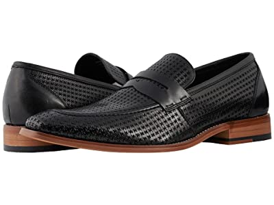 Stacy Adams Belfair Moc Toe Slip On Loafer (Black) Men