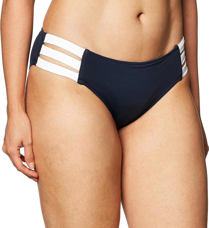 Seafolly Women's Block Party Multi Strap Bikini Bottom Swimsuit