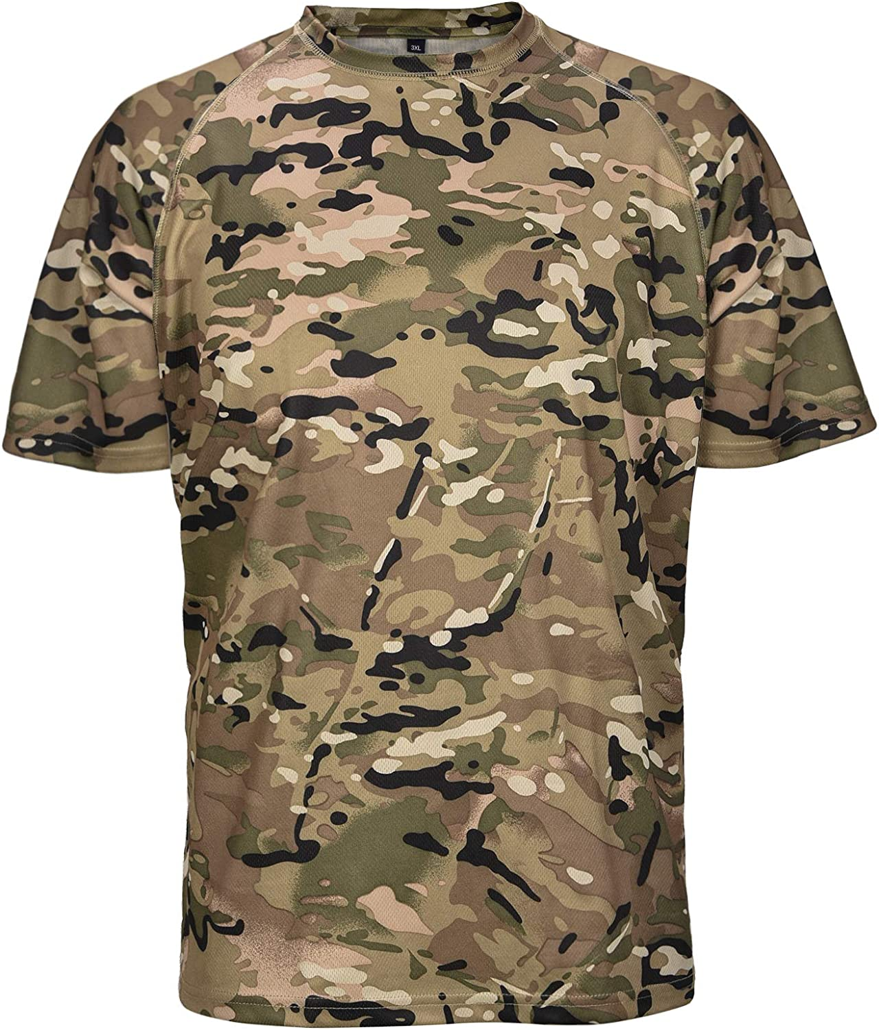 Wisdom High quality new Leaves Fixed price for sale Men's Short Sleeve Perfor Camo T-Shirt Lightweight