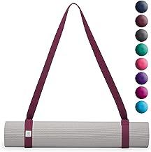 حمّالة بساط يوجا من جيام- حزام حمّالة سهل الاستخدام مع حلقات معدنية بشكل حرف D قابلة للتعديل (تُباع منفردة بالوان مختارة- ...