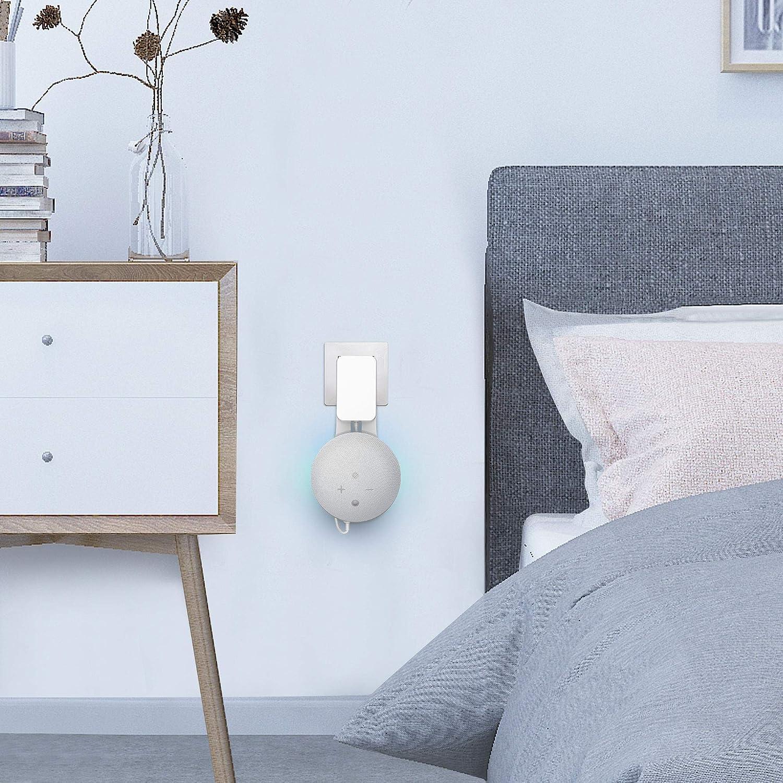 Generation Halterung St/änder mit integriertem Kabelmanagement ohne Schrauben f/ür Wohnzimmer K/üche . PlusAcc Wandhalterung f/ür Dot 4 Wei/ß